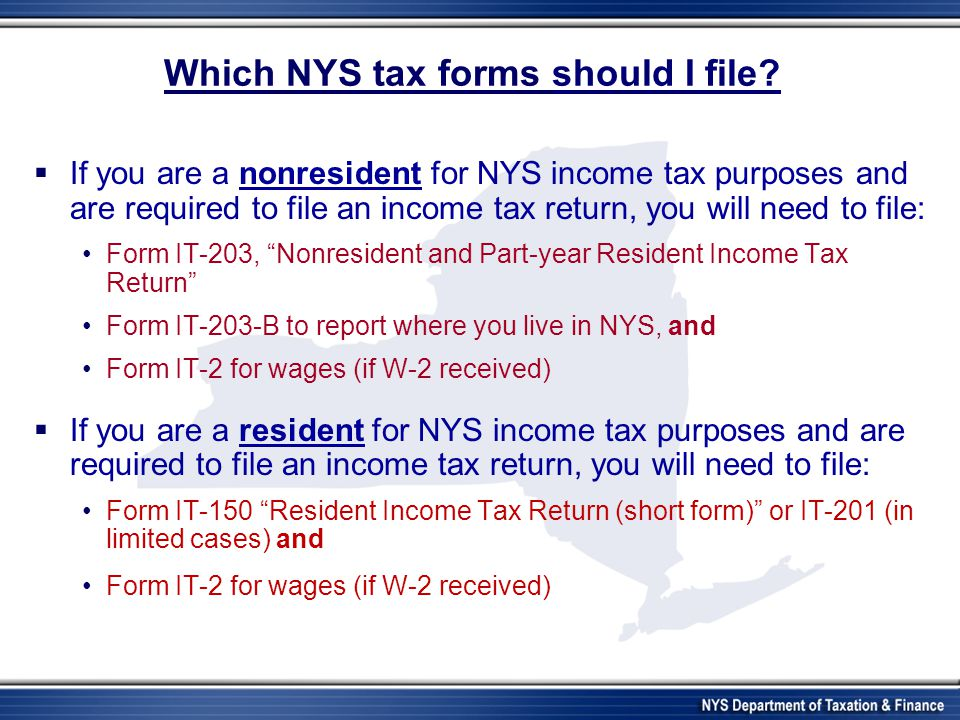 New York State Department of Taxation and Finance International ...