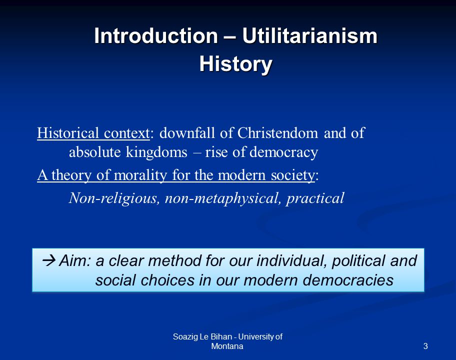 the theory of utilitarianism