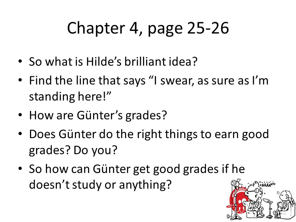 Chapter 4, page So what is Hilde's brilliant idea.
