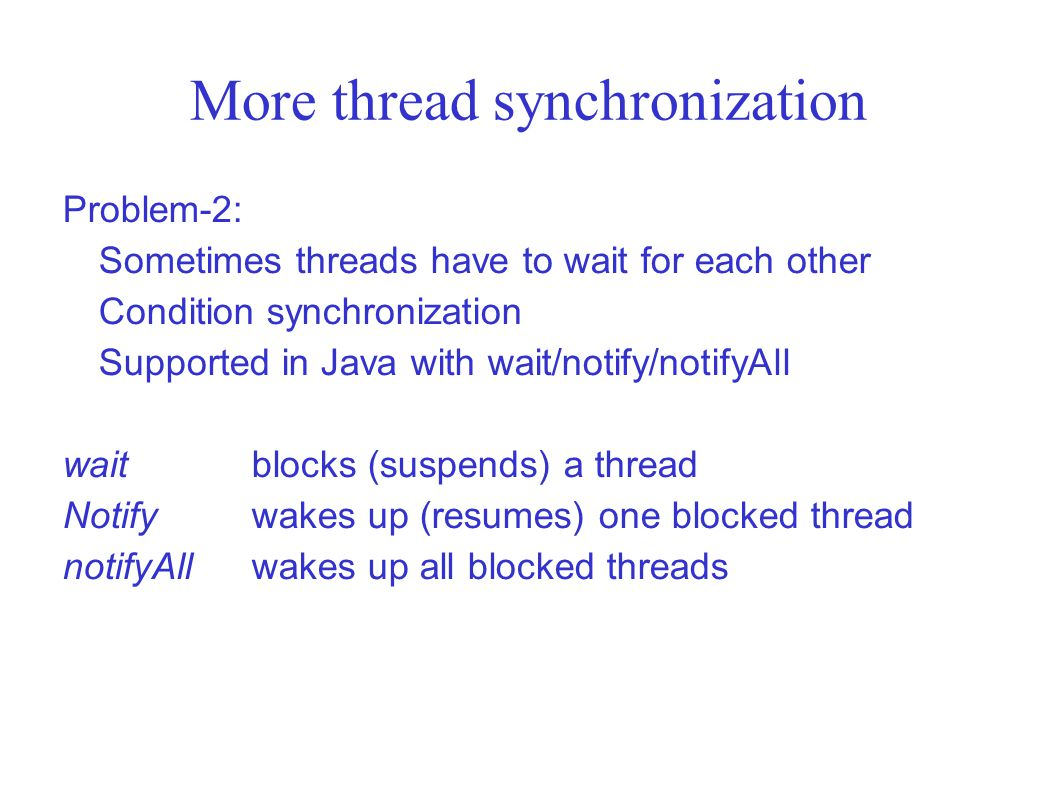 Parallel programming in java java has 2 forms of support for 7 more thread synchronization baditri Gallery