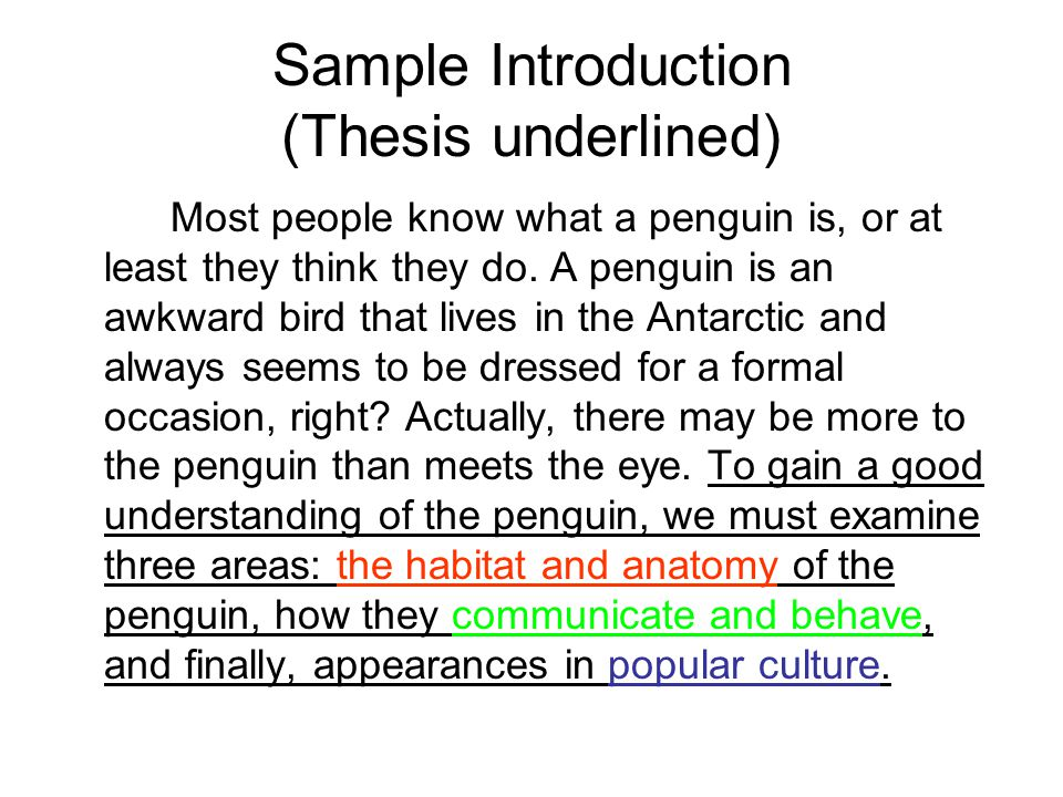 Thesis Statement For Self Introduction Speech