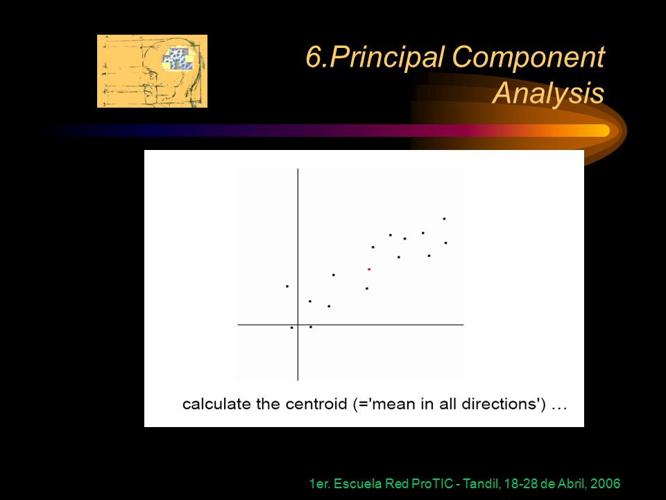 1er. Escuela Red ProTIC - Tandil, 18-28 de Abril, 2006 6.Principal Component Analysis