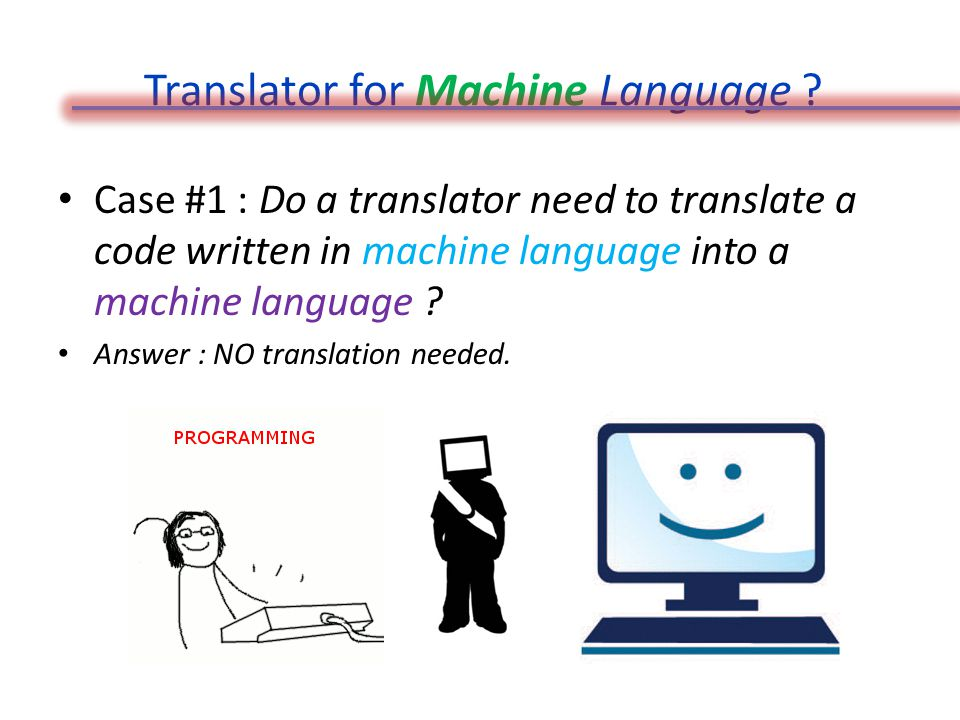Translator for Machine Language .