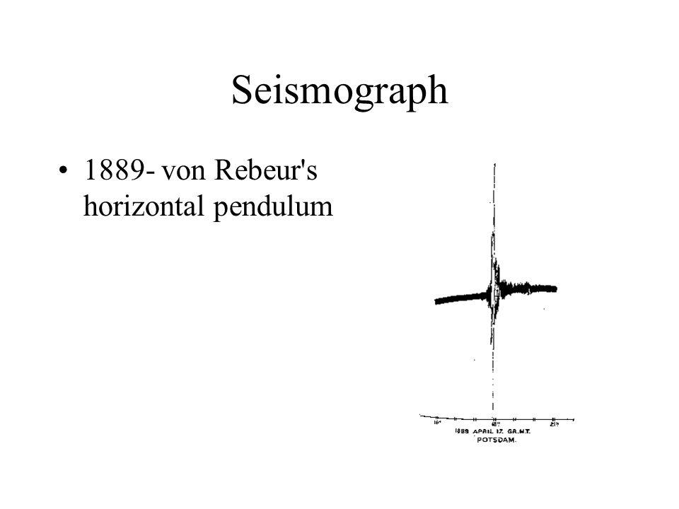 Seismograph 1889- von Rebeur's horizontal pendulum