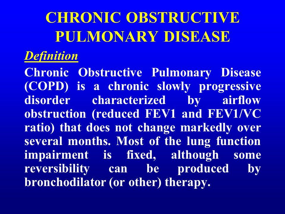 chronic obstructive pulmonary disease a progressive