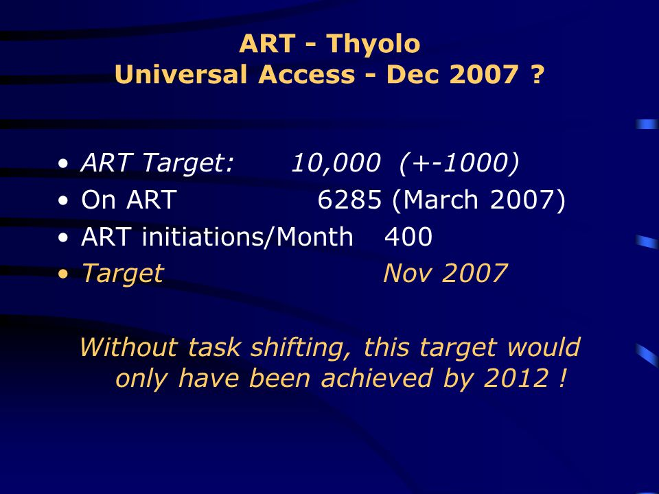 ART - Thyolo Universal Access - Dec