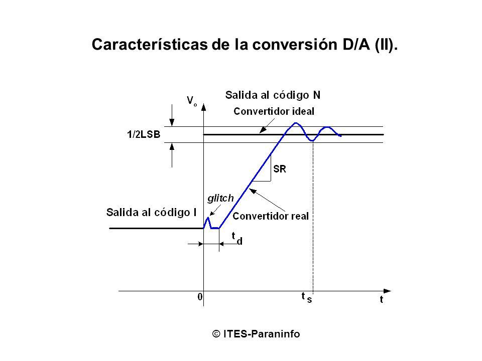 Características de la conversión D/A (II). © ITES-Paraninfo