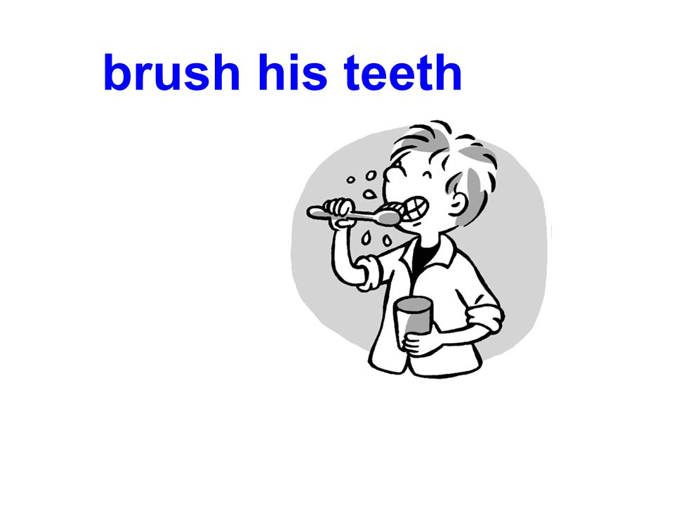 brush his teeth