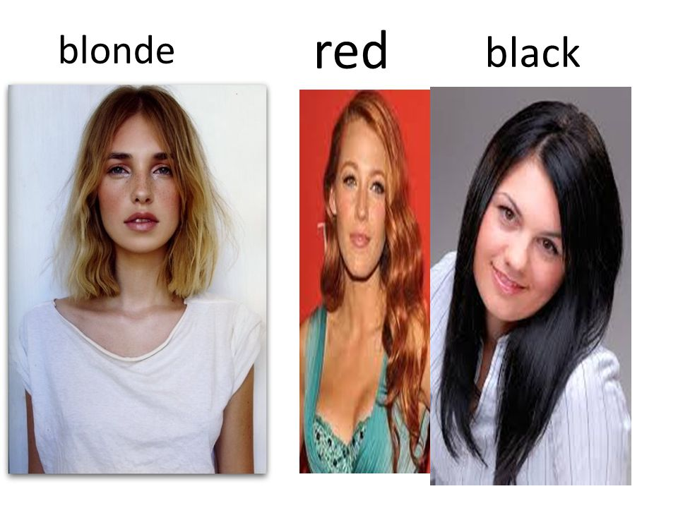 blonde red black