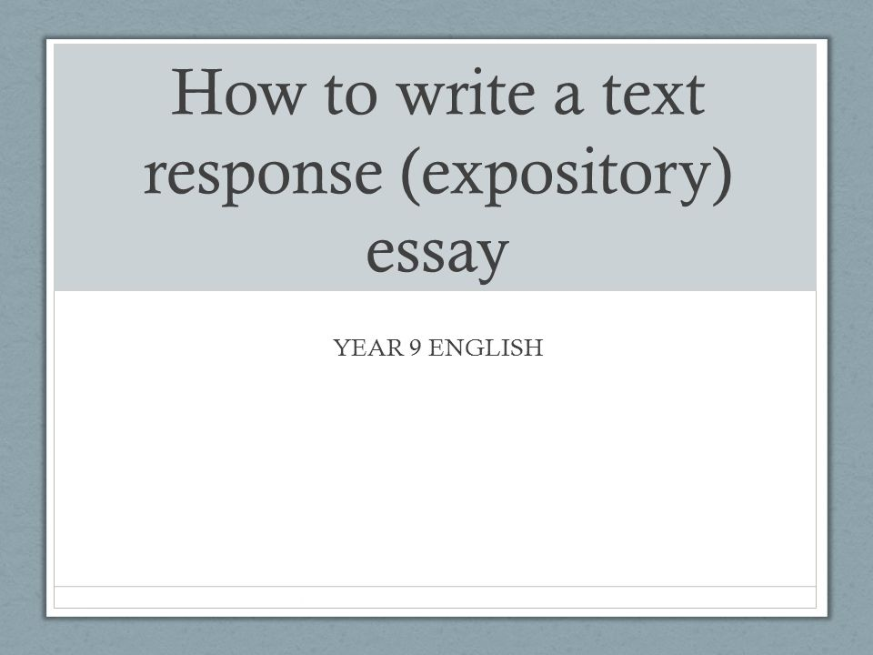English help please? Authors and espository essay?