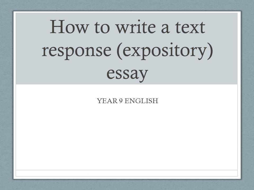 Text response essay