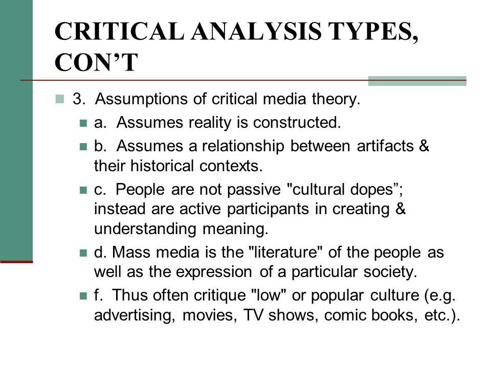 Textual Analysis Research Critical Analysis Critical Analysis I
