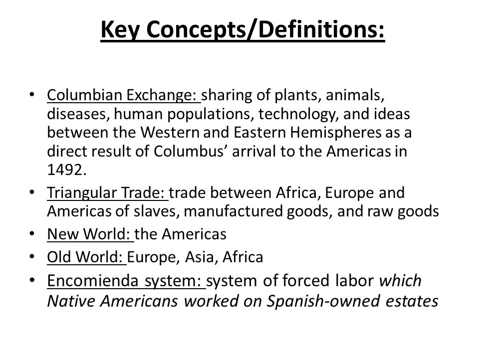 a review of the columbian exchange
