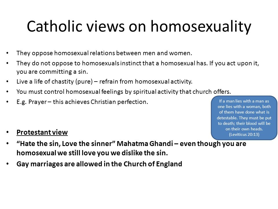 Christian view on same sex attraction