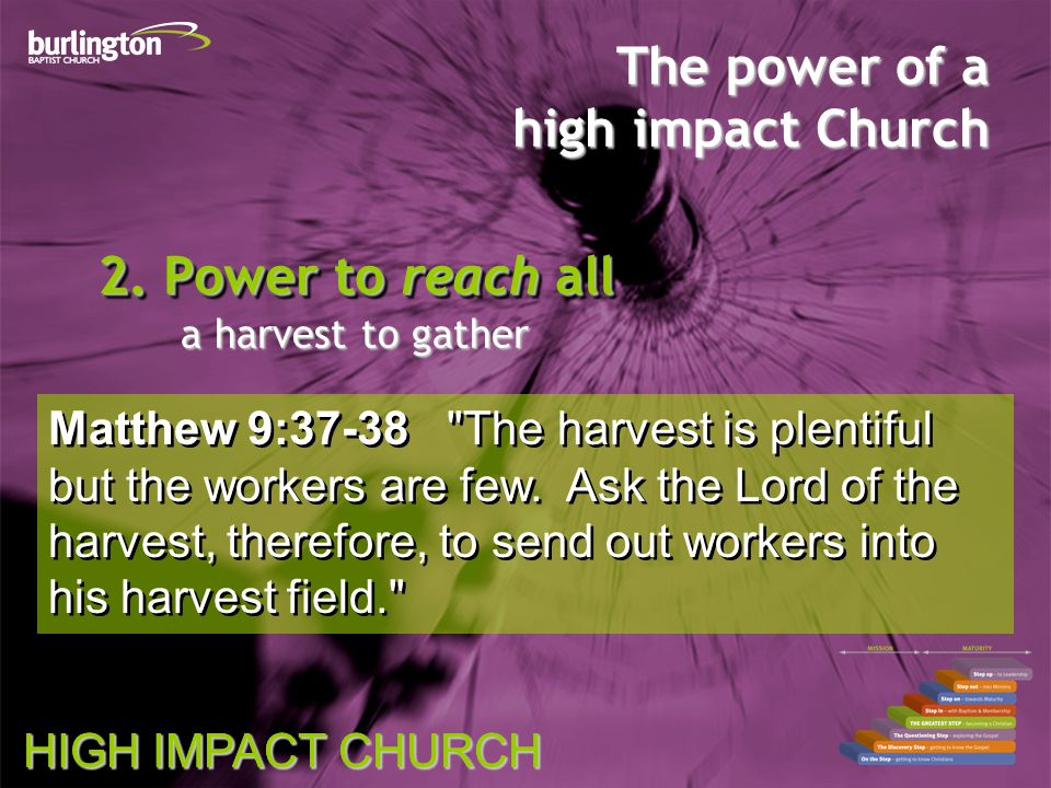 HIGH IMPACT CHURCH The power of a high impact Church 2.