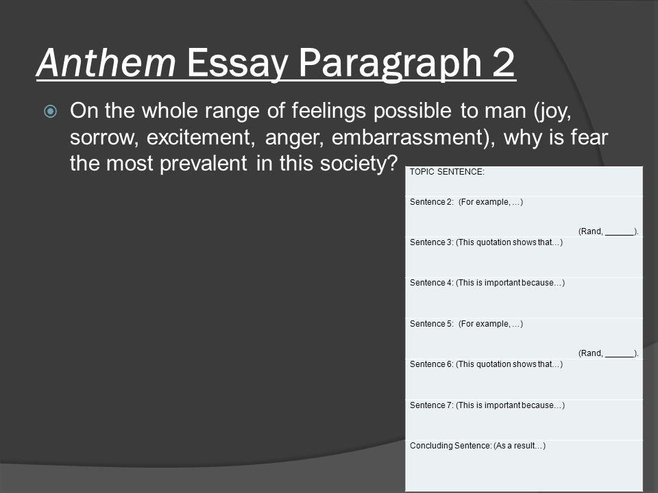 5 paragraph essay on anthem