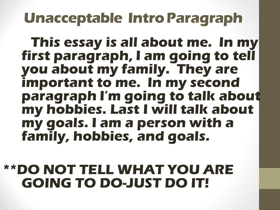 Introduction paragraph for essay