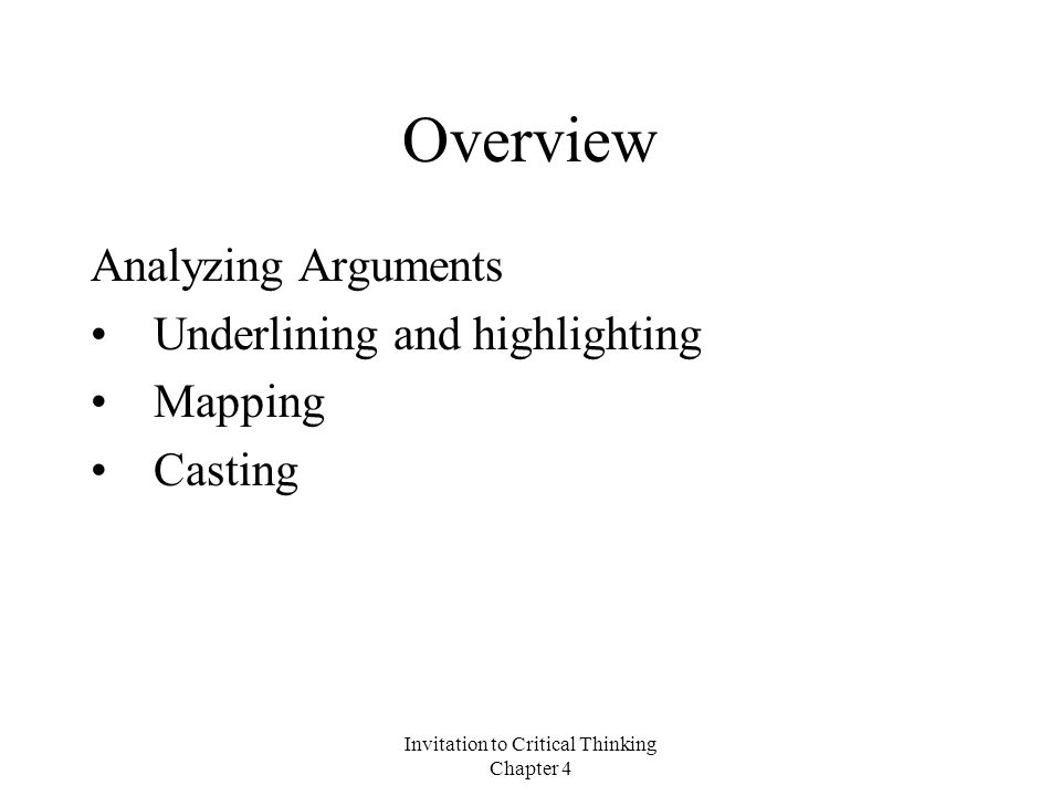 mapping arguments critical thinking