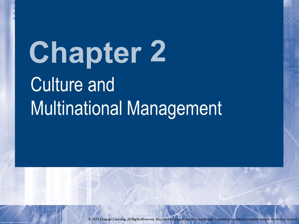 Chapter © 2013 Cengage Learning. All Rights Reserved.