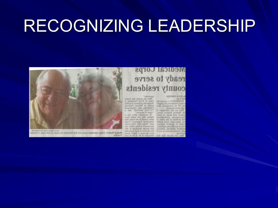 RECOGNIZING LEADERSHIP