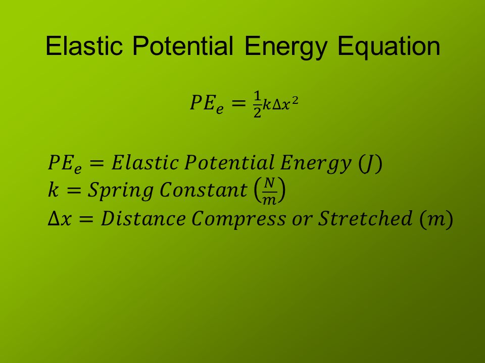 Elastic Potential Energy Equation