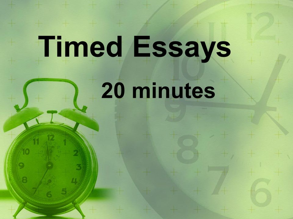 How to write a good application essay 20 minutes