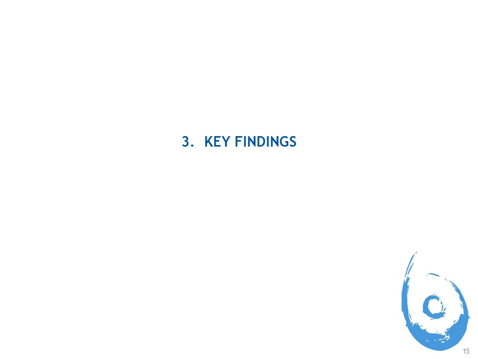 15 3. KEY FINDINGS