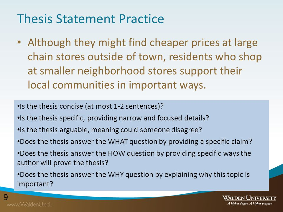 shopping thesis statements