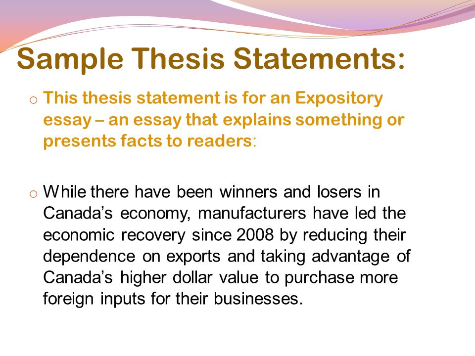 Alexander College Writing  Learning Centre  What Is A Thesis   Sample