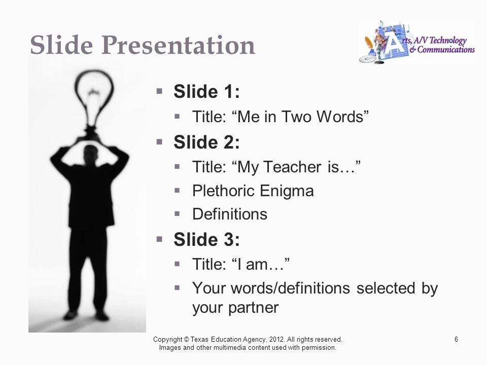 professional communications me in two words copyright acirc copy texas 6 slide presentation