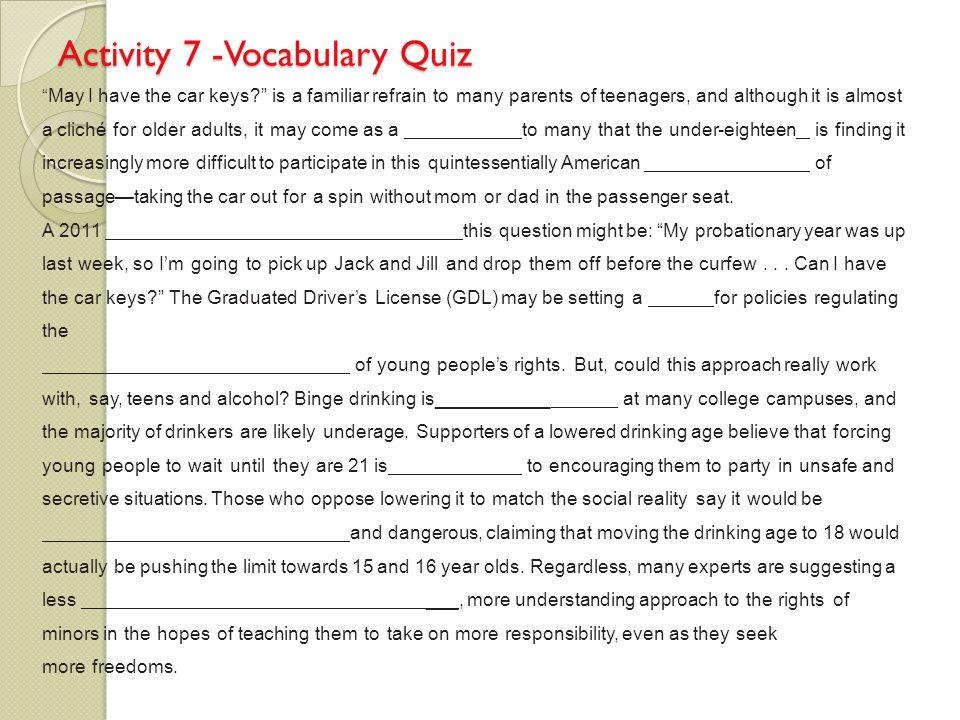 Persuasive Essay Exercise