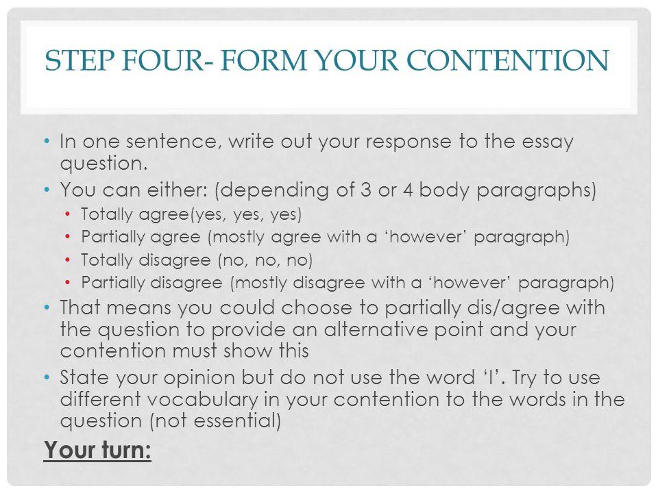 Essay Response Format