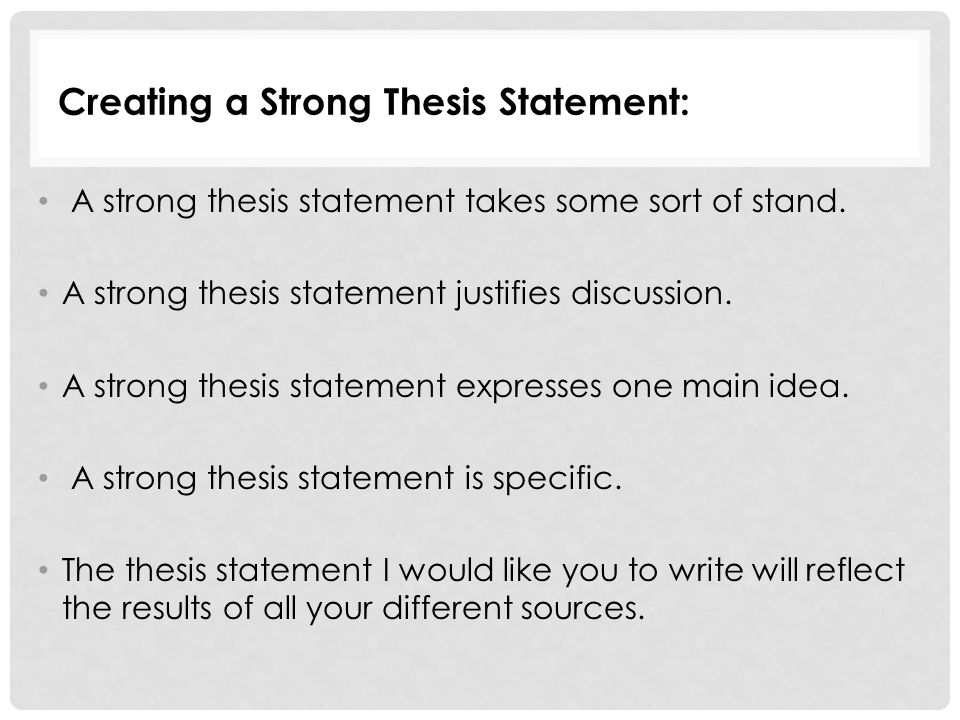 steps to creating a good thesis Thesis statements - example here is an exercise to help create a thesis statement in 3 simple steps.