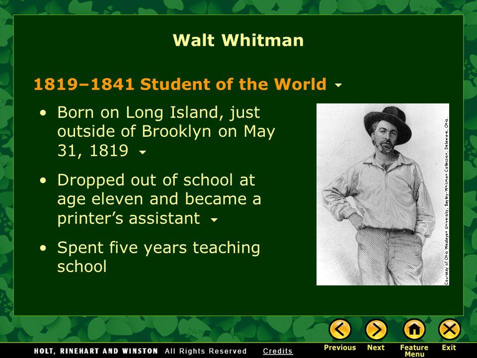 compare contrast essay whitman