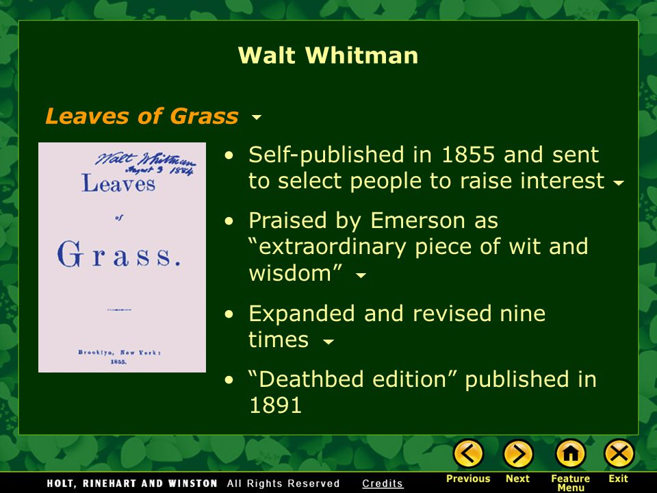 dickinson and whitman essay