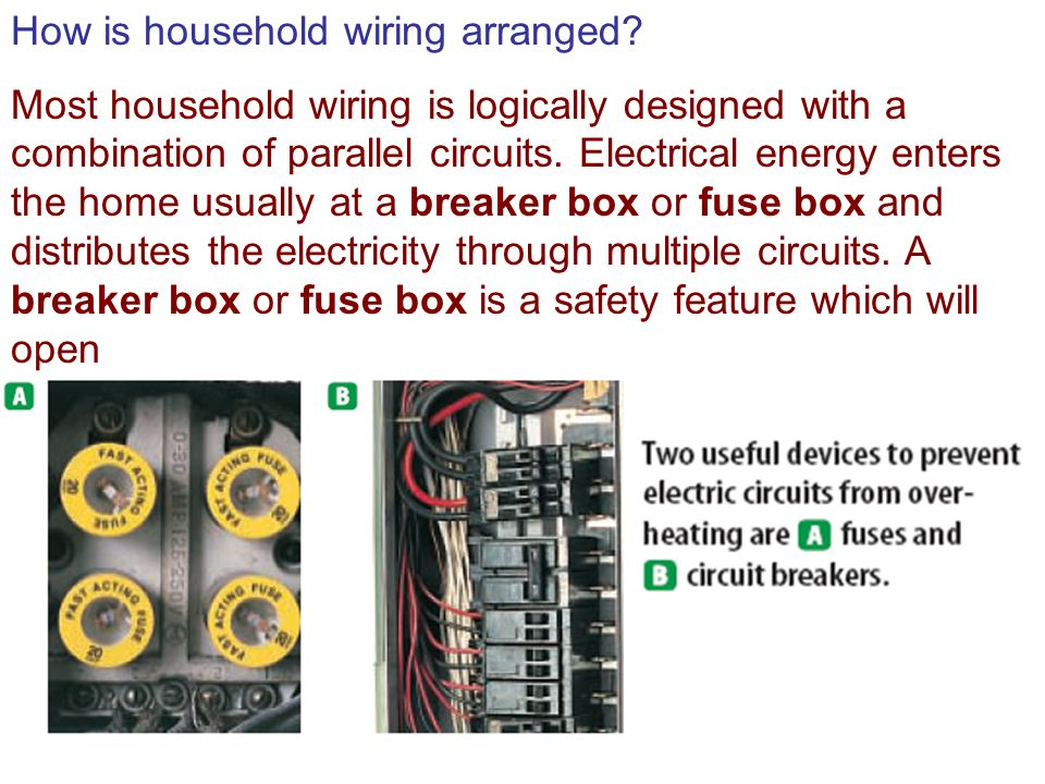 How is household wiring arranged.