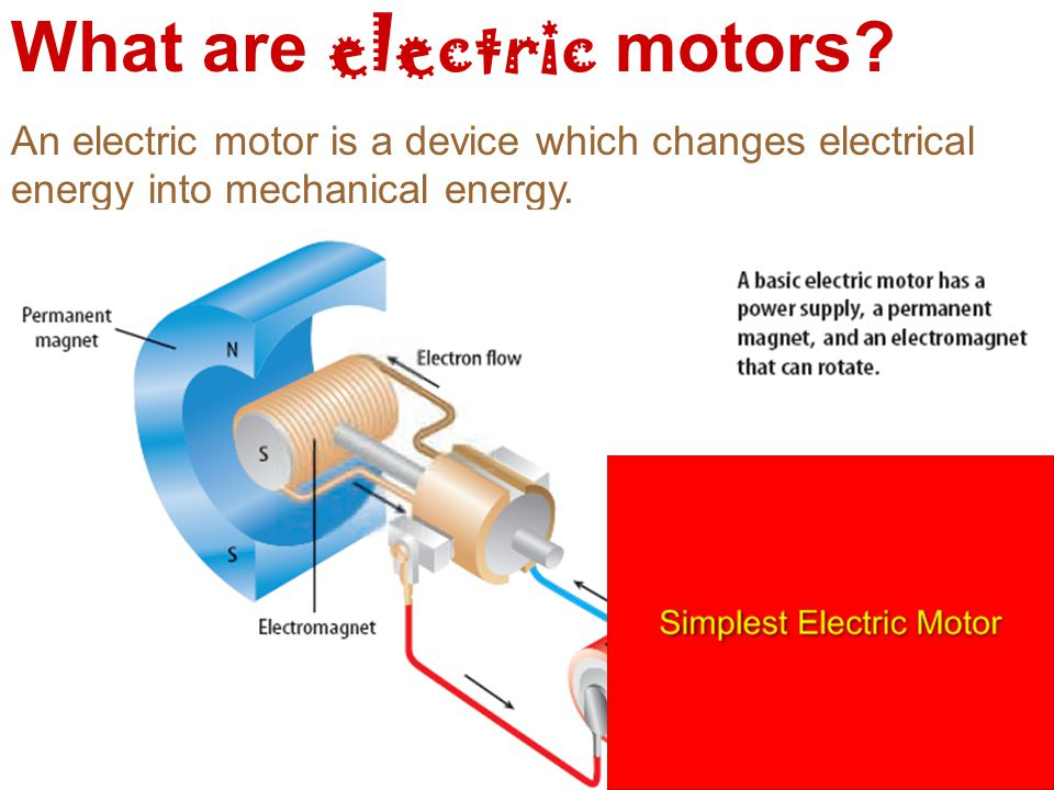 What are electric motors.