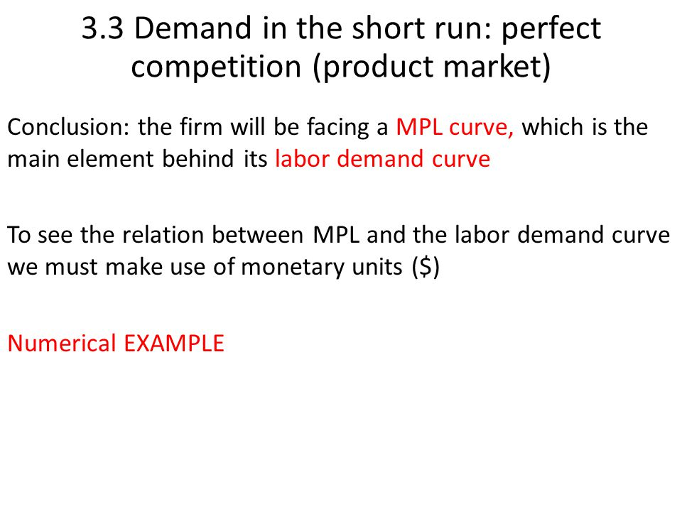 conclusion short run product function