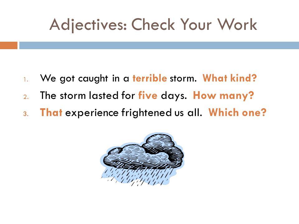 descriptive essay the storm