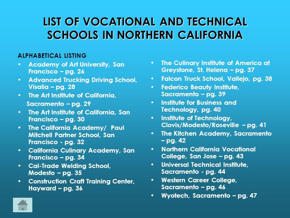 list of trade schools