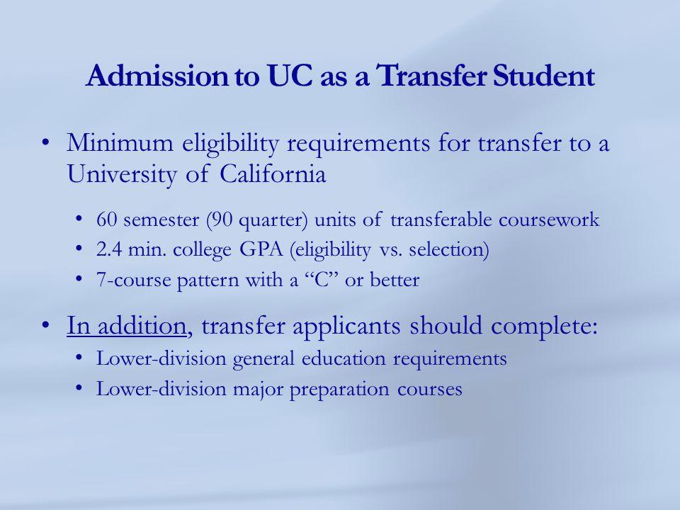 Am I still considered a California Community College Transfer student?