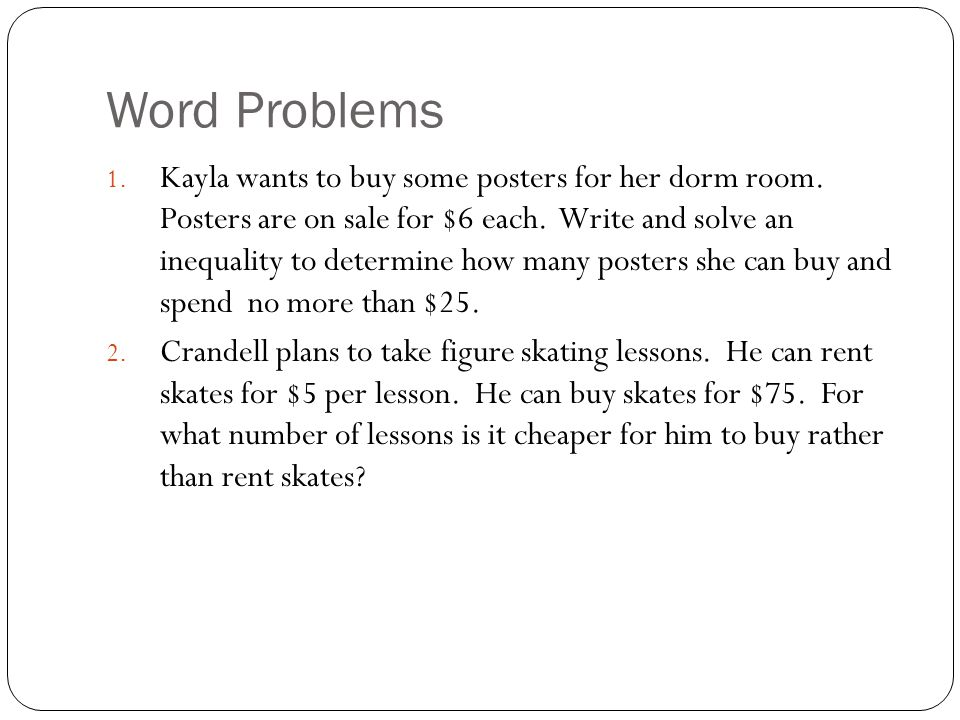 Writing Equations From Word Problems Worksheet Tessshebaylo – Linear Inequalities Word Problems Worksheet