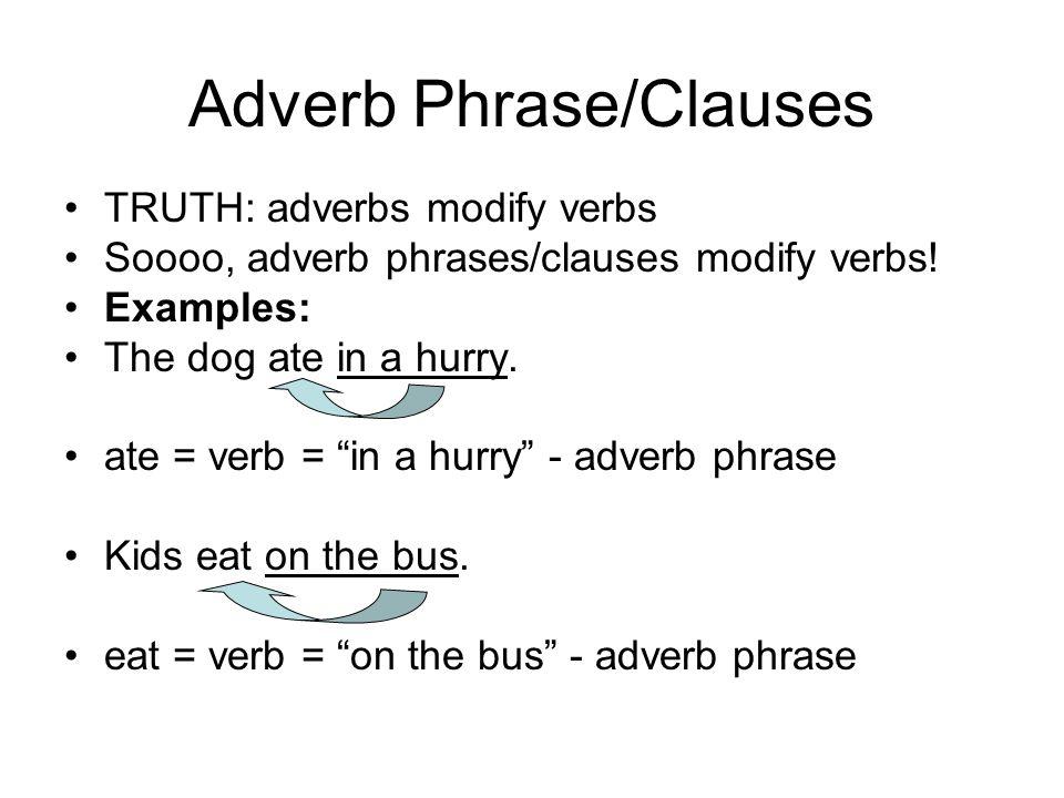 Adverb Phrase Essay Help
