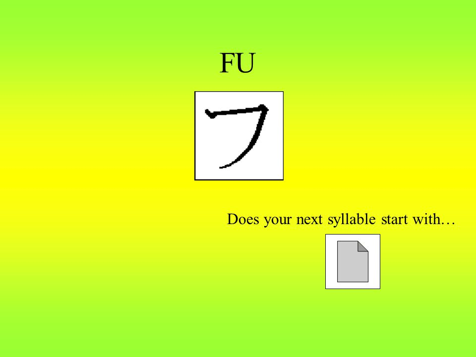FU Does your next syllable start with…
