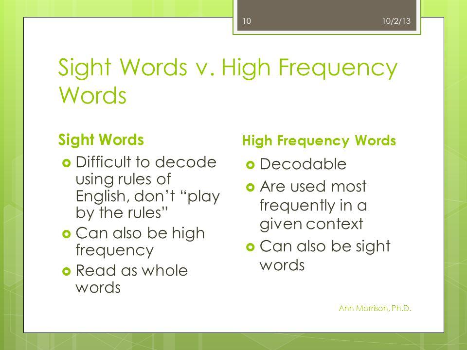 Sight Words v.