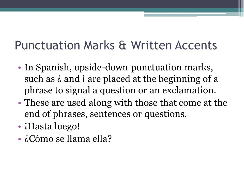 spanish punctuation Gallery