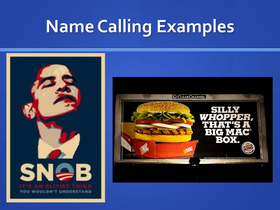 Name Calling Examples