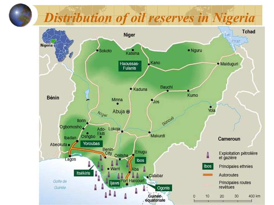 Nigeria – Economy Based heavily on abundant oil reserves Provides most of the revenue for the country Has provided wealth for select few; most remain impoverished (60% below poverty) The 5 th largest supplier to the US Most people still make a living from subsistence farming Heavy borrowing means Nigeria also has a large debt $30 billion external debt