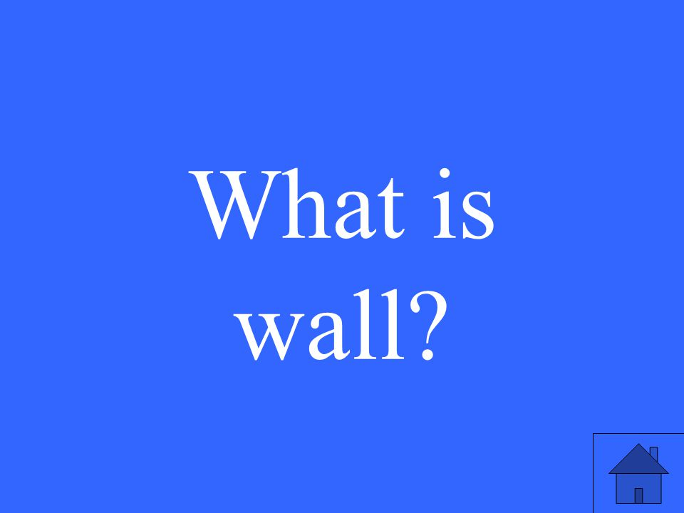 What is wall