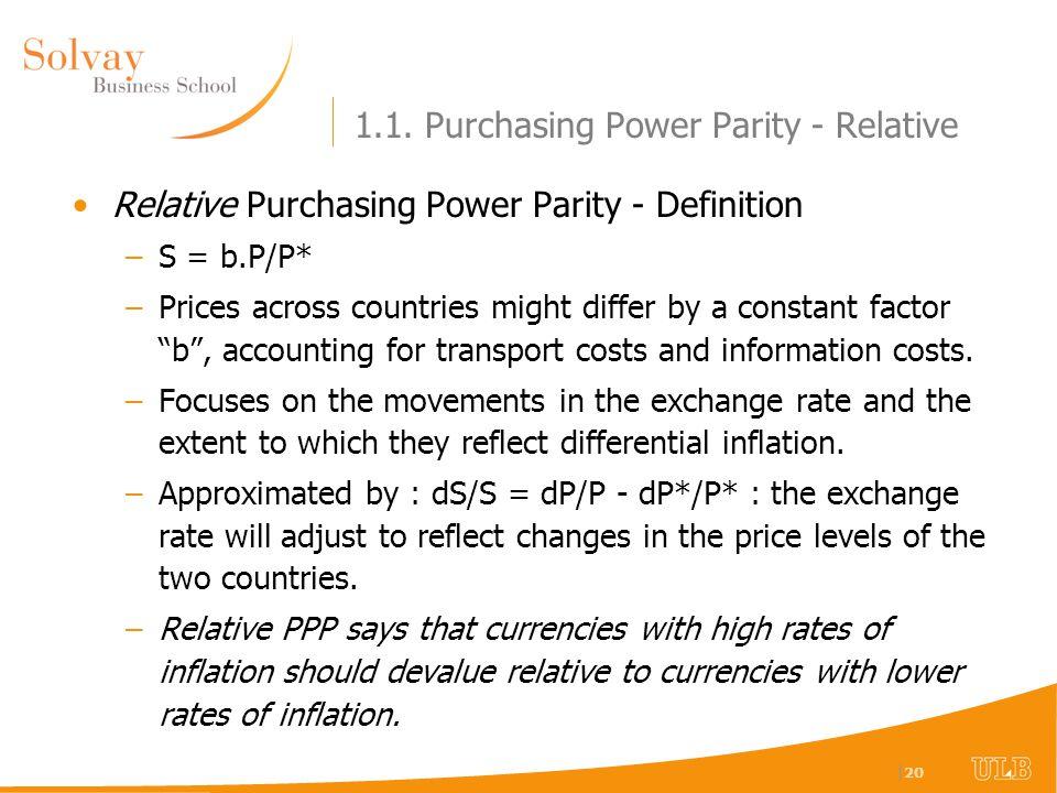 Dissertation on purchasing power parity